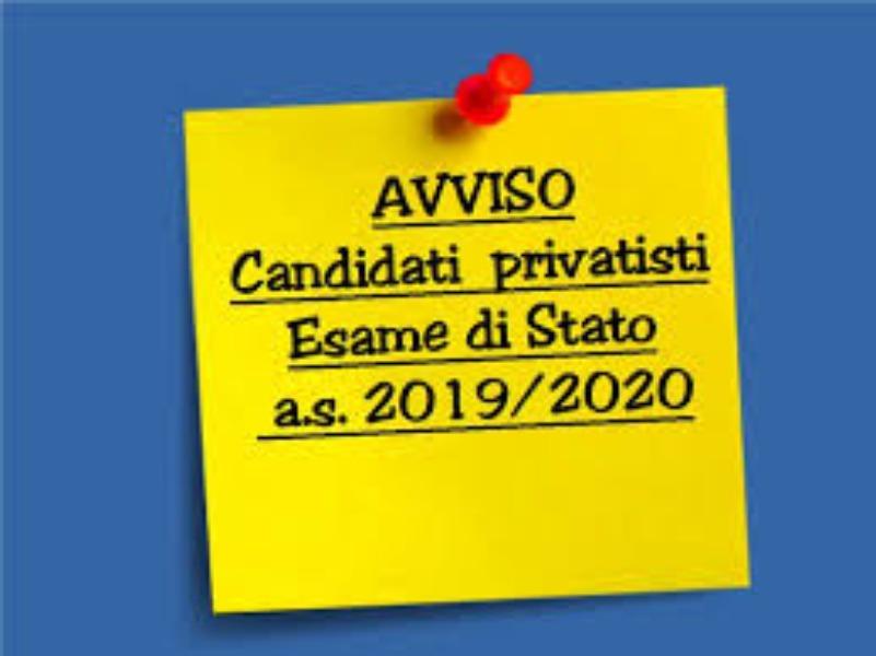 AVVISO N. 237 - ESAMI PRELIMINARI ESAME DI STATO 2019/2020